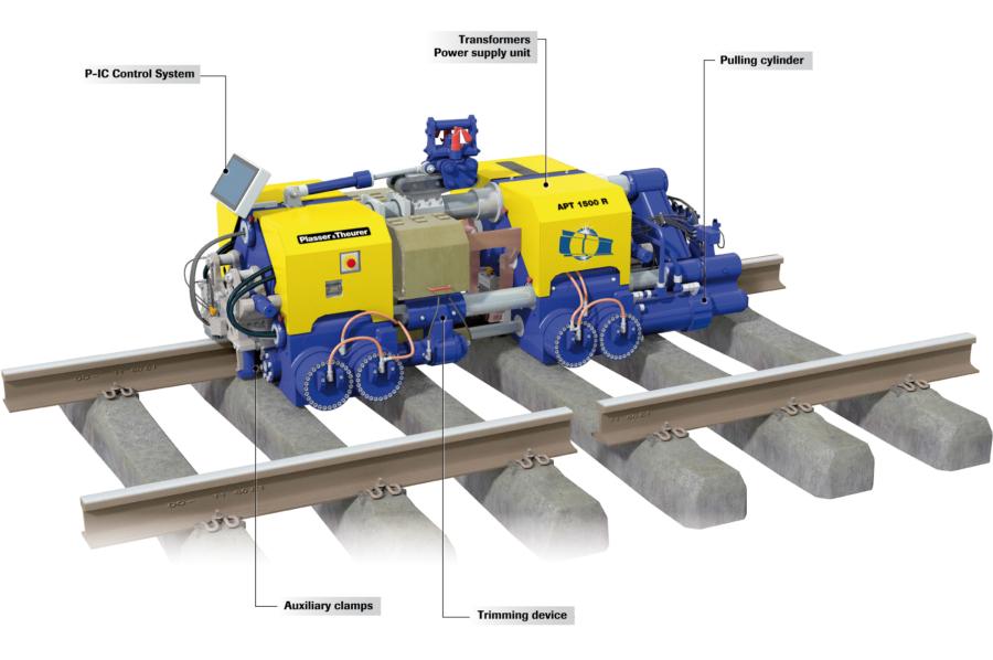 The APT 1500 R rail welding robot