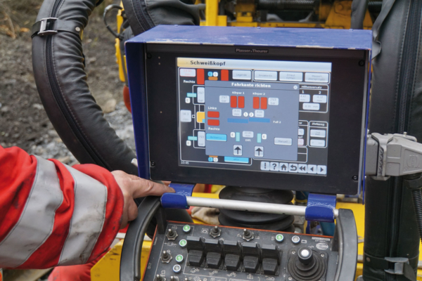 Entering parameters via the touch screen using the P-IC control system