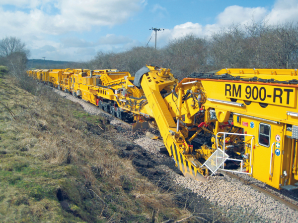 Excavation machine RM 900 RT of the HOBCS in Great Britain