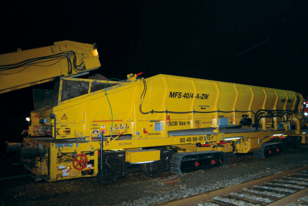 MFS 40/4 A-ZW with bogies and crawler chassis