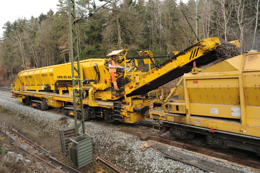 MFS 40/4-ZW loading onto a rail-mounted MFS unit