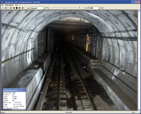 Driver's view video image utilizing the high powered tunnel wall illumination system