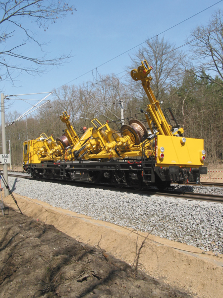 High quality materials require special installation methods in overhead line construction.